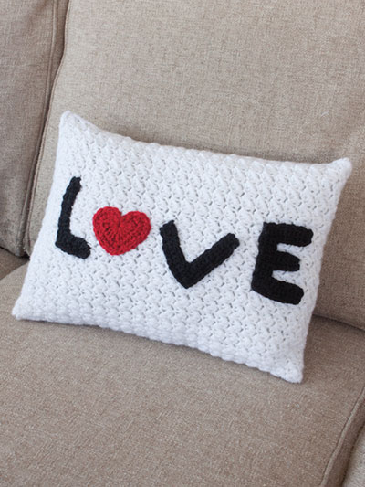 Love Pillow Crochet Pattern