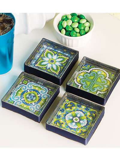 Tile Coaster Set Cross Stitch Pattern