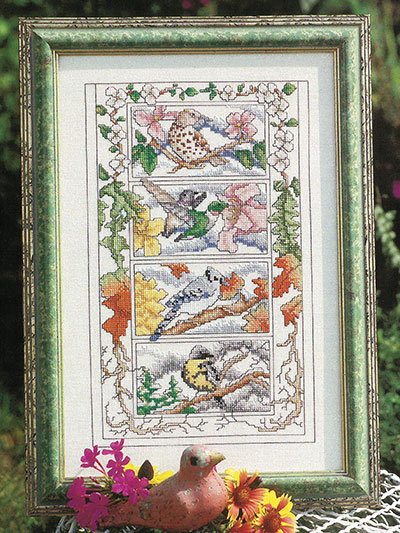 Seasonal Birds Counted Cross Stitch