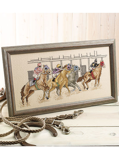 At The Races Counted Cross Stitch Pattern