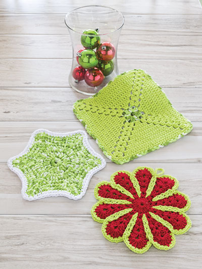 Easy Holiday Hot Pads Crochet Pattern