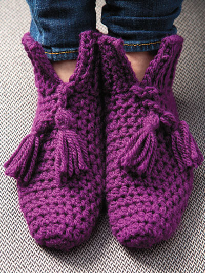 Cuffed Booties Crochet Pattern