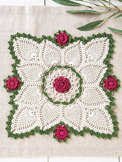 Rose Splendor Doily Crochet Pattern