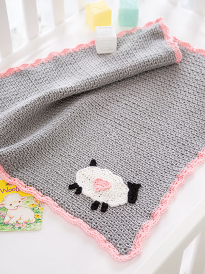 Little Lamb Baby Blanket Crochet Pattern