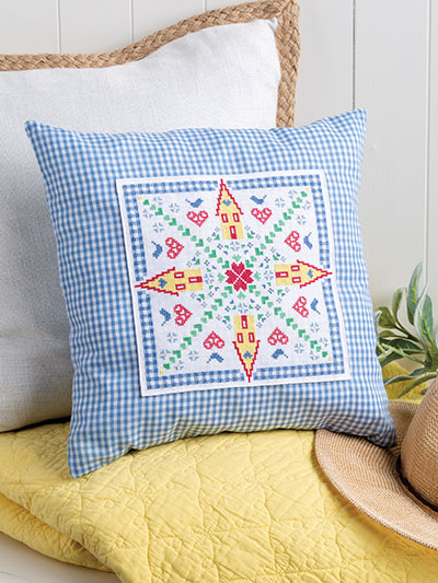 Home Is Where the Heart Is Pillow Cross Stitch Pattern