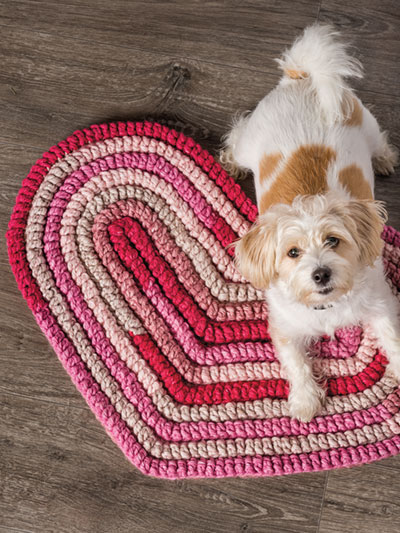 Big Hearts Rug with Folding Single Tutorial Crochet Pattern