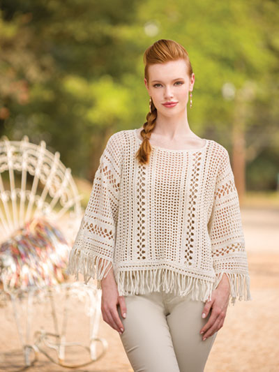 Fringed Poncho Top Crochet Pattern