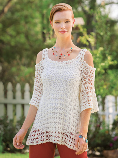 Cold Shoulder Mandala Top Crochet Pattern
