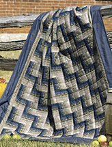 Rail Fence Sofa Quilt