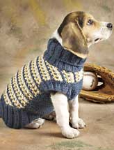 Slip-Stitch Dog Sweater