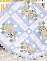 Sleepy Bear Baby Quilt