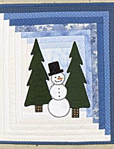 Snowman Mini Log Cabin