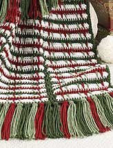 Crochet on the Double Mile-a-Minute Christmas Afghan