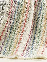 Crochet 'n' Weave Mile-a-Minute Summer Stripes Afghan