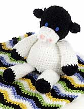 Crochet Cow & Blanket
