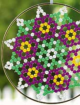 Beaded Posie Suncatcher