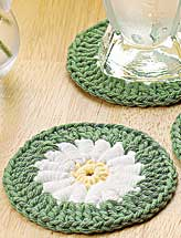 Dream Daisy Crocheted Coaster