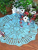 Blue Hearts Doily