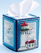 Lighthouse Tissue Topper