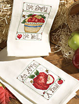 Country Sentiments Dish Towels