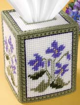 Field of Violets Tissue Topper