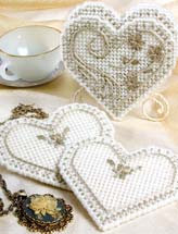 Tin Hearts Coaster Set