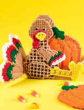 Turkey & Pumpkins Coaster Set