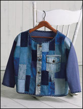 Denim Patchwork Cardigan