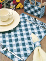 Blue Gingham Table Set