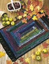 Log Cabin Welcome Rug