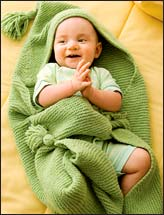 Huggable Hooded Blankie & Rosette Booties