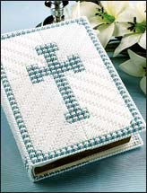 Blue Cross Bible Cover