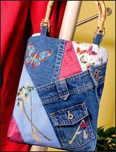 Stitched & Patched Denim Bag