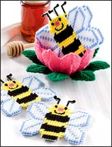 Honey Bee Coaster Set