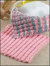 Mock Cable Dishcloth