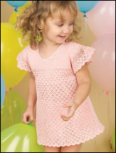 Sweet Pink Fluff Toddler Dress