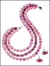 Burgundy & Pink Pearls Set