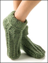 Pebble Rib Slipper Socks