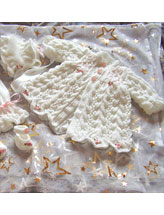 Feathered Lacy Coat Set
