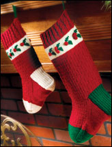 Holly Stocking Duo