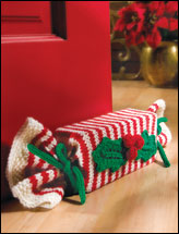 Peppermint & Holly Doorstop