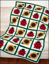 Ladybugs & Sunflowers Afghan