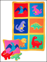Dinosaurs! Afghan, Pillow & Toys