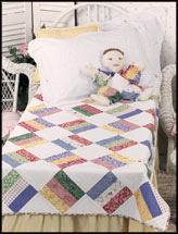 Scrappy Baby Quilt & Happy the Clown