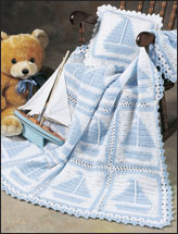 Sailboat Afghan Set