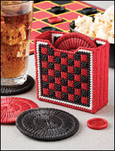 Checkers Coasters