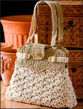 Puff Stitch Crowns Bag
