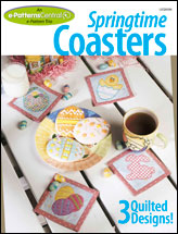 Springtime Coasters!: 3 Quilted Designs