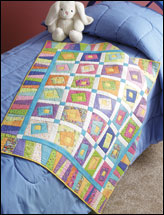 Crazy Logs Kid's Quilt