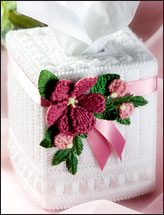 Milk Glass Rose Tissue Topper
